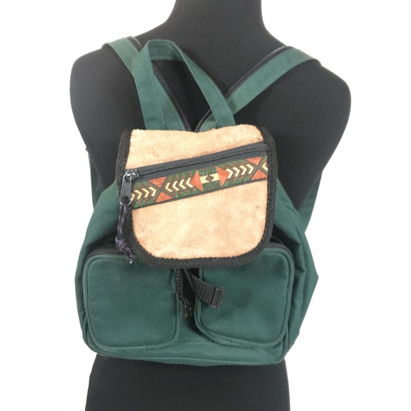 VTG 90s GREEN AZTEC SOUTHWEST MINI BACKPACK BAG. M 5bb6d32df63eea1241d390d6 a2153613762b6